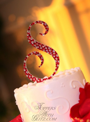 Single Initial Cake Topper