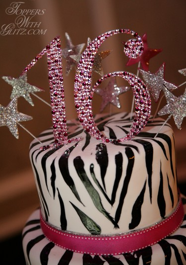 Sweet Sixteen Cake Topper in Giselle