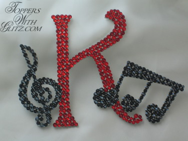 Music notes cake topper