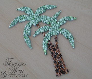 Palm Tree Cake Topper